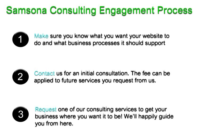 Samsona Consulting Engagement Process