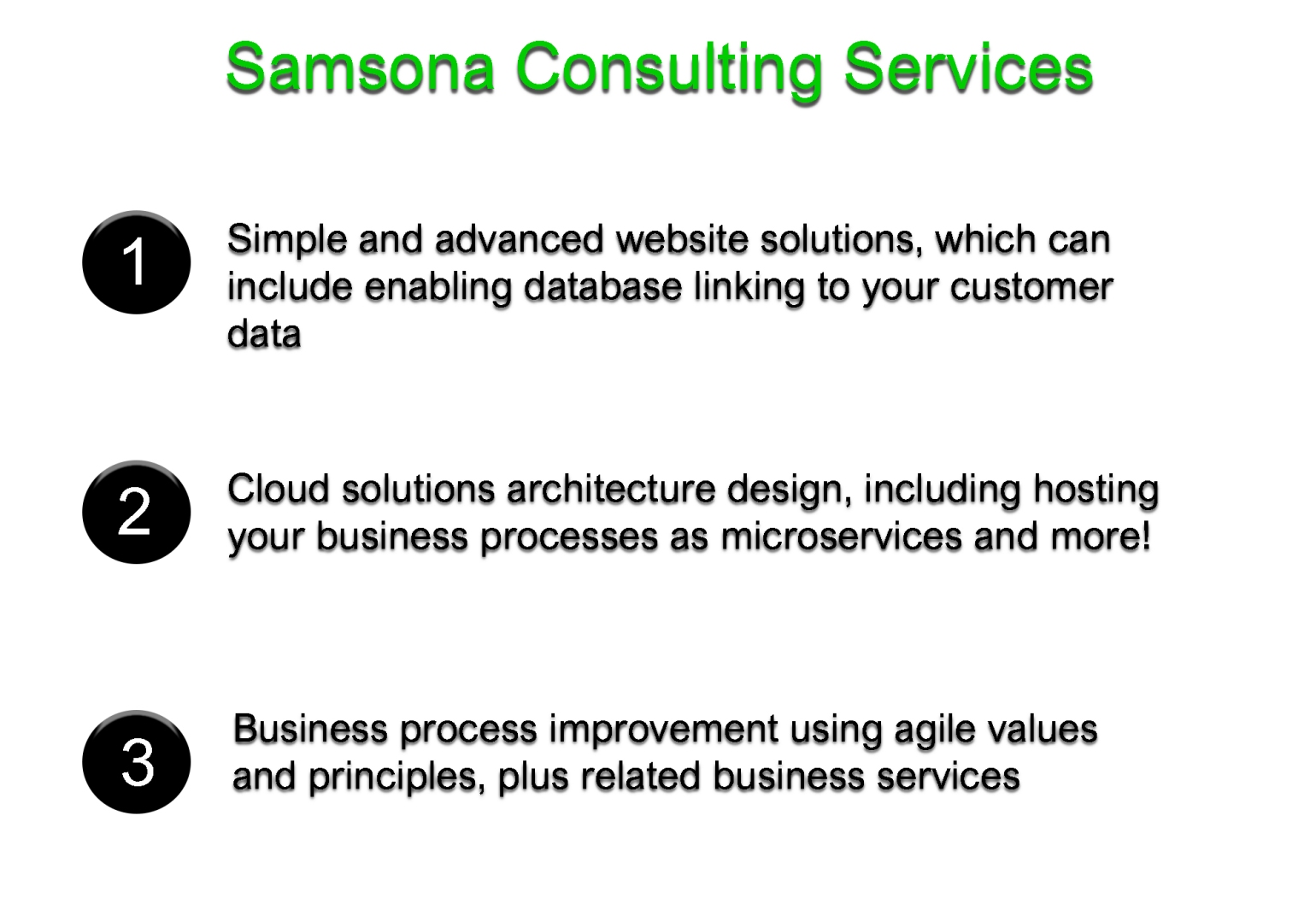 Samsona Consulting Services